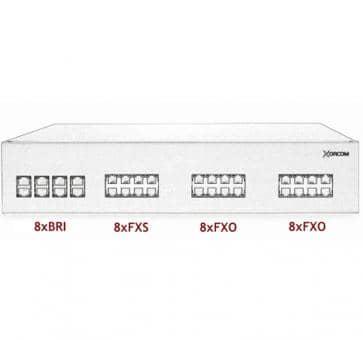 Xorcom IP PBX - 8 BRI + 8 FXS + 16 FXO - XR2103