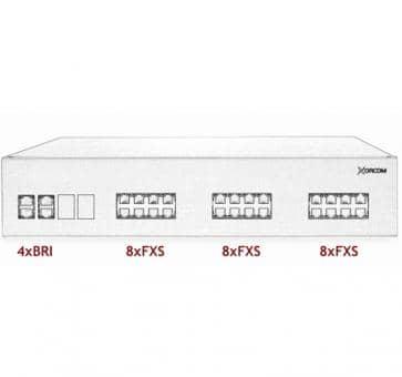 Xorcom IP PBX - 4 BRI + 24 FXS - XR3032
