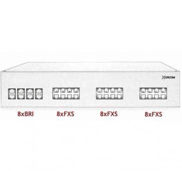 Xorcom IP PBX - 8 BRI + 24 FXS - XR3044