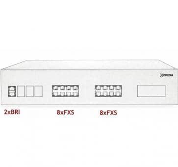 Xorcom IP PBX - 2 BRI + 16 FXS - XR3065