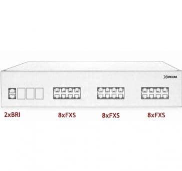 Xorcom IP PBX - 2 BRI + 24 FXS - XR3066