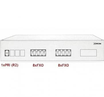 Xorcom IP PBX - 1 PRI + 16 FXO - XR3070