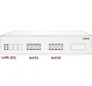 Xorcom IP PBX - 1 PRI + 8 FXS + 8 FXO - XR3072