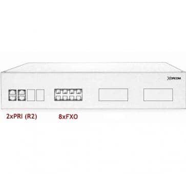 Xorcom IP PBX - 2 PRI + 8 FXO - XR3075