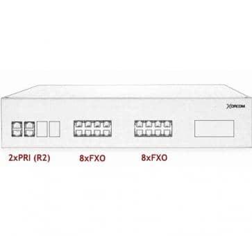 Xorcom IP PBX - 2 PRI + 16 FXO - XR3076