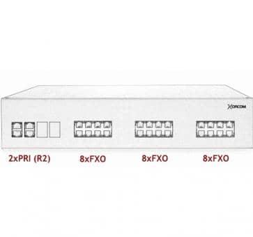 Xorcom IP PBX - 2 PRI + 24 FXO - XR3077