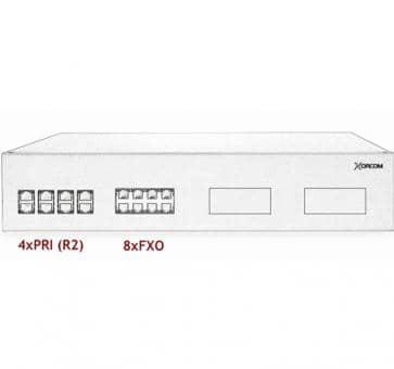 Xorcom IP PBX - 4 PRI + 8 FXO - XR3081