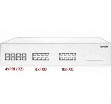 Xorcom IP PBX - 4 PRI + 16 FXO - XR3082
