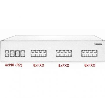 Xorcom IP PBX - 4 PRI + 24 FXO - XR3083