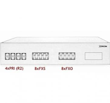 Xorcom IP PBX - 4 PRI + 8 FXS + 8 FXO - XR3084