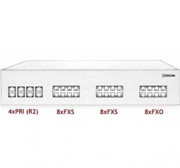 Xorcom IP PBX - 4 PRI + 16 FXS + 8 FXO - XR3086