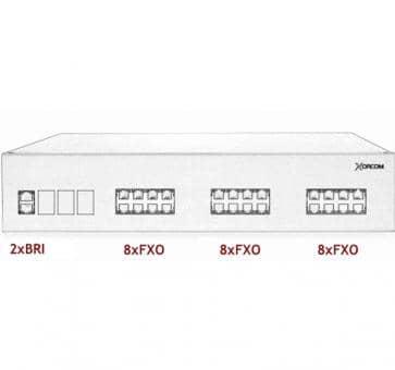 Xorcom IP PBX - 2 BRI + 24 FXO - XR3089