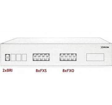 Xorcom IP PBX - 2 BRI + 8 FXS + 8 FXO - XR3090
