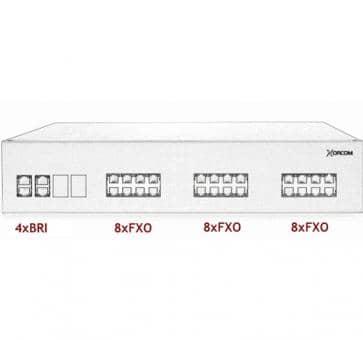 Xorcom IP PBX - 4 BRI + 24 FXO - XR3095