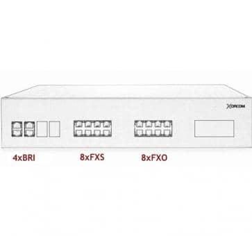 Xorcom IP PBX - 4 BRI + 8 FXS + 8 FXO - XR3096