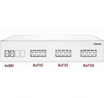 Xorcom IP PBX - 4 BRI + 16 FXS + 8 FXO - XR3098