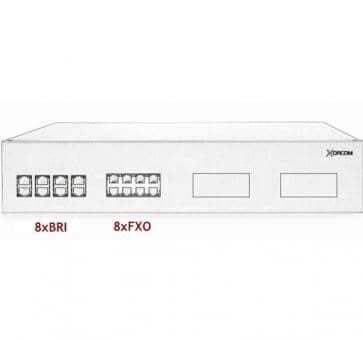 Xorcom IP PBX - 8 BRI + 8 FXO - XR3099