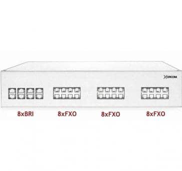 Xorcom IP PBX - 8 BRI + 24 FXO - XR3101