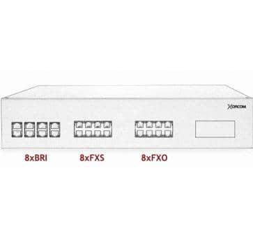 Xorcom IP PBX - 8 BRI + 8 FXS + 8 FXO - XR3102