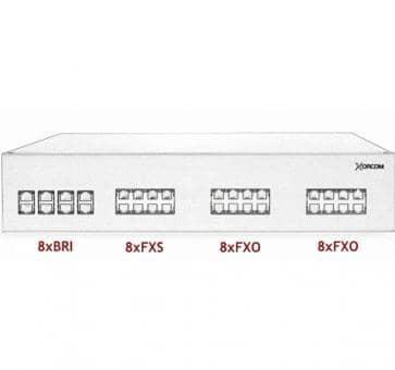 Xorcom IP PBX - 8 BRI + 8 FXS + 16 FXO - XR3103